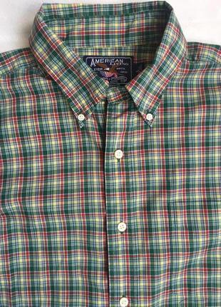 Рубашка муж в клетку длинный рукав раз l (50)