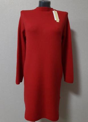 Супер-качество!модное,экстравагантное,деловое,мега-теплое,25%кашемира,5%шерсти,платье
