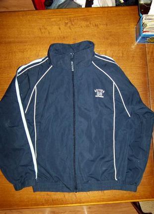 Куртка-олимпийка синяя на молнии performance 10-11 лет
