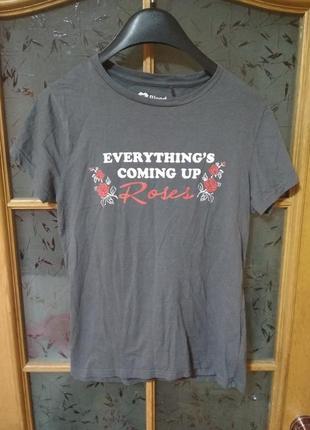 Классная футболка с надписью принтом от chicoree, p. m