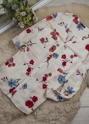 Шикарная цветочная блуза от f&f рр 20 наш 54