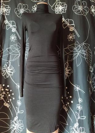 Базовое платье миди гольф бренд с оборкой на животике можно беременным