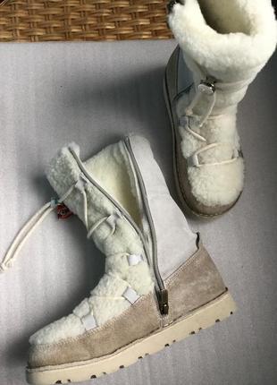 Зимние кожаные сапоги на цигейке ортопедические