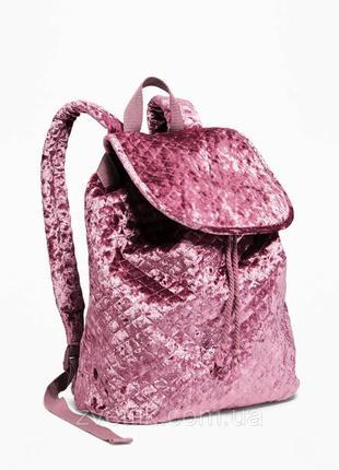 Стеганый бархатный рюкзак на шнуровке для девочек  old navy (сша)