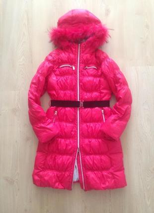 Пуховик зимний  для девочки snowimage, рост140-158.