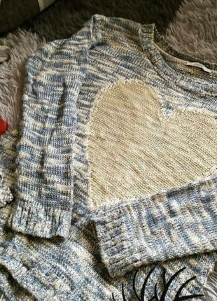 Кофта светр свитер сердечко нежная