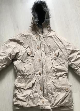 Мужская очень тёплая зимняя куртка парка ben sherman