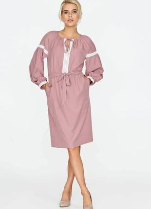 Рожева сукня під вишиванку з мереживомі nenka. ціна нижче оптової