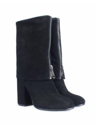 Новые черные замшевые сапоги ботинки miraton attizzare