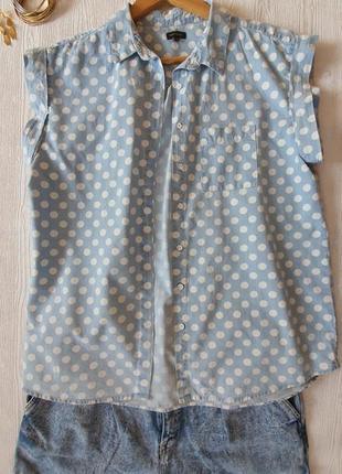 Горохи рубашка с коротким рукавом