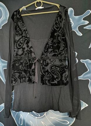 Блуза кофточка с бантом promod