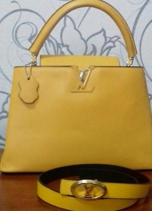 Кожаная сумочка +поясок