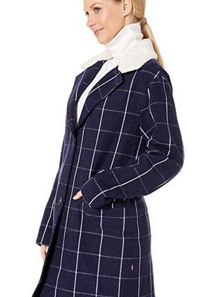 Levi's трендовое шерстяное пальто. оригинал! новая шерстяная парка, куртка женская s-m