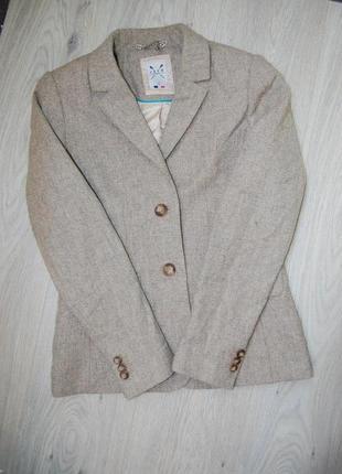 Пиджак блейзер бежевый шерсть j.crew clothing company
