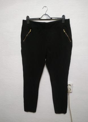 Стильные плотный трикотажные брюки большого размера