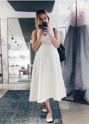 Платье оверсайз из плотного льна
