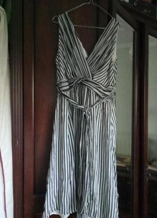 Платье в трендовую полоску натуральный шелк coast