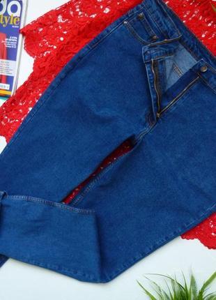 Высокая талия, джинсы мом