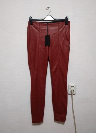 Стильные брюки из экокожи zara большого размера