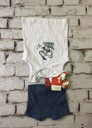 Комплект детского нижнего белья набор трусы майка