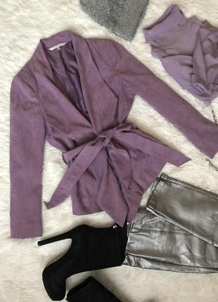 Новая сиреневая куртка пиджак размер м