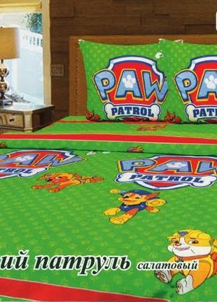 Постельное белье щенячий патруль paw patrol зеленый