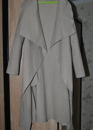 Пальто-кардиган на запах, с поясом, италия, bershka h&m new look topshop
