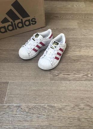 Adidas superstar кожаные кроссовки кеды 28 р