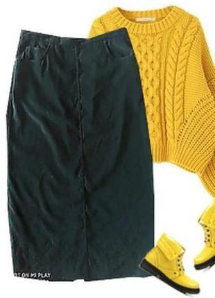 Длинная  бархатная  юбка