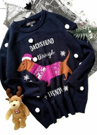 Новогодний свитер, рождественский свитер орнамент олени