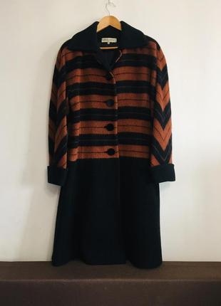 Шикарное пальто balmain оригинал винтаж шерсть франция