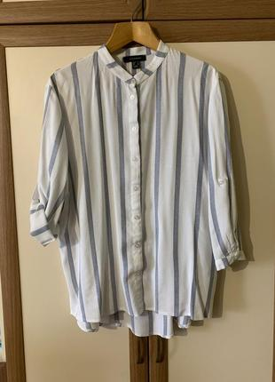 Стильная вискозная рубашка батал в стиле оверсайз atmosphere 16 {44} размер