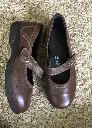 Туфли кожаные easy b на широкую ножку