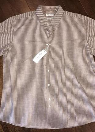 Jack reid, новая хлопковая рубашка в полоску! р.-xxl