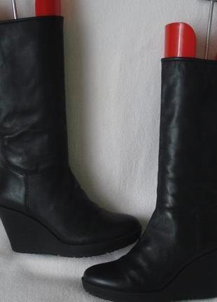 Vagabond 38,5-39 р. фирменные демисезонные кожаные сапоги