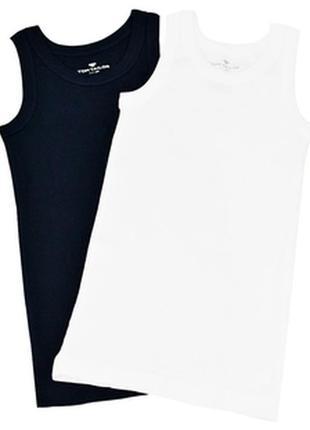 Майка для мальчика 2шт. tom tailor темно-синяя и белая от 122-164см