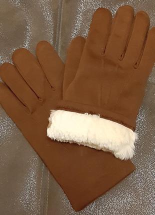 Качественные перчатки на натуральном кролике, размер 10, австрия