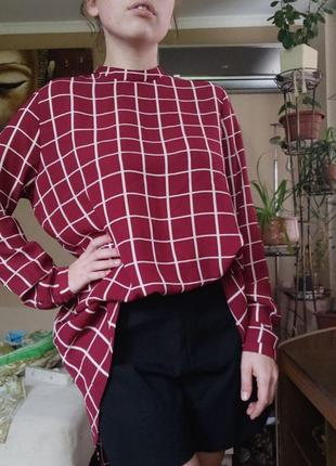 Шикарная удлиненная рубашка , блуза