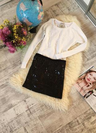 Красивая юбка в паетках 🖤✨есть много брендовых вещей