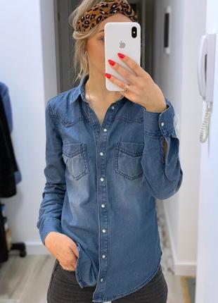 Джинсовая рубашка esmara.
