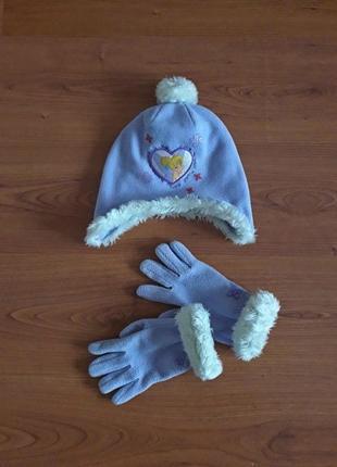 Комплект шапка и перчатки с феей disney