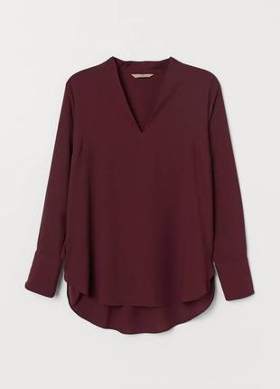 Роскошная блуза марсала