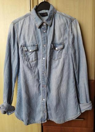 Джинсовая рубашка, джинсовка, размер с- м