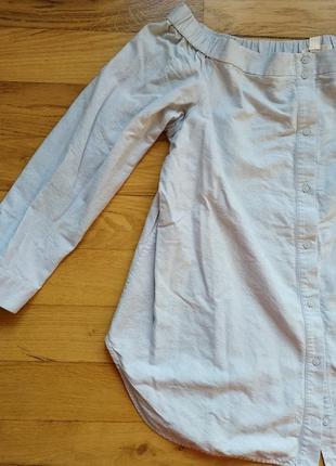 Джинсовая легкая кофта рубашка