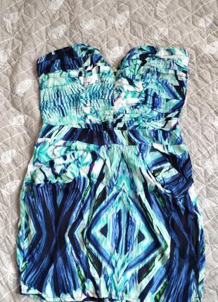 Летнее платье бюстье