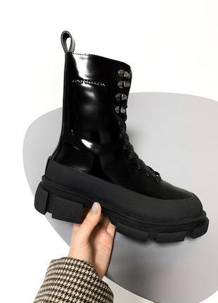 Both x lost general black fur  🤗 женские зимние ботинки бот с мехом зима