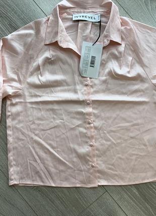 Рубашка шелковая блуза