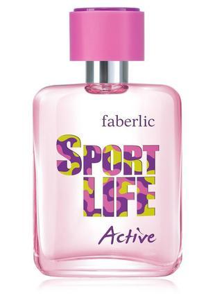 Шок цена! скидки до 70%! туалетная вода faberlic sport life active 50 мл