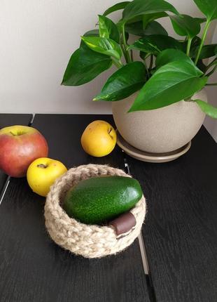 Мини корзина из джута 12*5 good__knitting