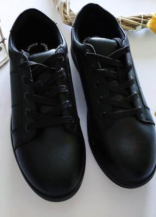 Новые кожаные деми туфли-ботинки